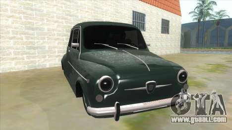 Fiat 600 for GTA San Andreas back view