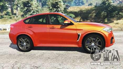 GTA 5 BMW X6 M (F16) v1.6 left side view