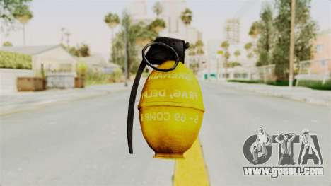 Grenade Gold for GTA San Andreas