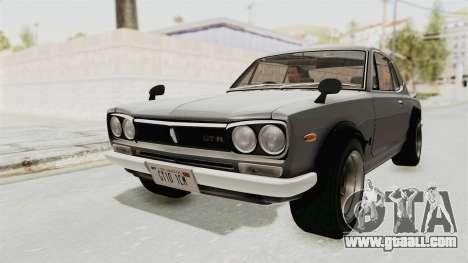 Nissan Skyline KPGC10 1971 for GTA San Andreas