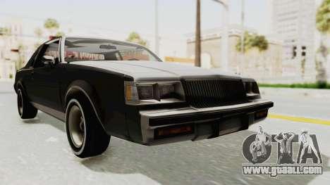 Buick Regal 1986 for GTA San Andreas