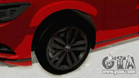 Volkswagen Passat B8 2016 Highline HQLM for GTA San Andreas back view