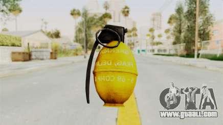 Grenade Gold for GTA San Andreas