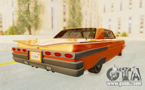 GTA 5 Declasse Voodoo Alternative v1 PJ for GTA San Andreas back left view