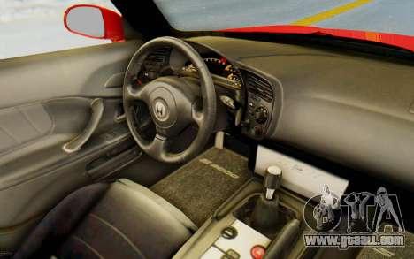 Honda S2000 for GTA San Andreas inner view