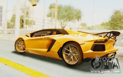 Lamborghini Aventador LP700-4 DMC for GTA San Andreas back left view