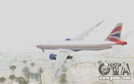 Boeing 777-300ER British Airways for GTA San Andreas left view