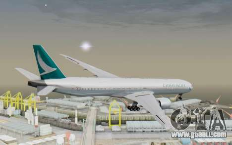 Boeing 777-300ER Cathay Pacific Airways v3 for GTA San Andreas right view