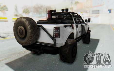 Toyota Hilux Technical MNU for GTA San Andreas left view