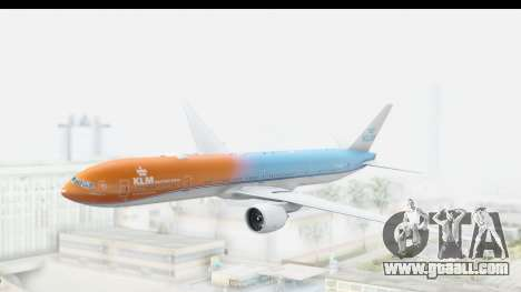 Boeing 777-300ER KLM Orange Pride for GTA San Andreas back left view