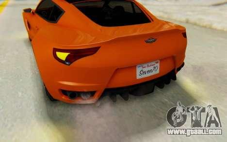 GTA 5 Dewbauchee Seven 70 IVF for GTA San Andreas side view
