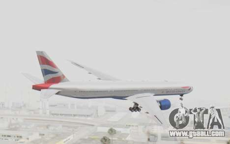 Boeing 777-300ER British Airways for GTA San Andreas right view
