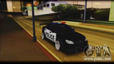 Subaru Impreza WRX STi Police Drift for GTA San Andreas
