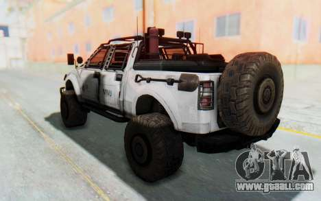 Toyota Hilux Technical MNU for GTA San Andreas back left view