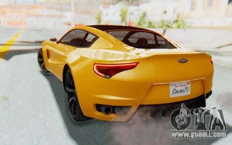 GTA 5 Dewbauchee Seven 70 IVF for GTA San Andreas back left view