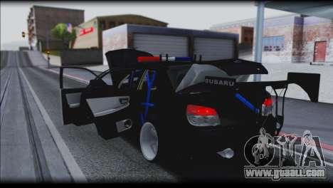 Subaru Impreza WRX STi Police Drift for GTA San Andreas side view