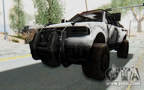 Toyota Hilux Technical MNU for GTA San Andreas right view