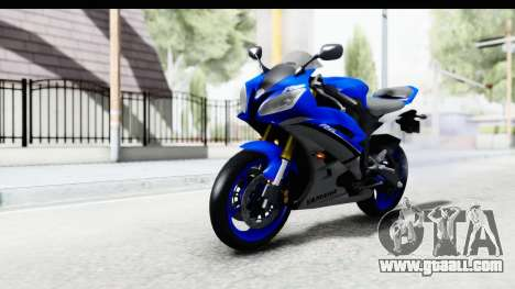 Yamaha YZF-R6 2006 with 2015 Livery for GTA San Andreas right view