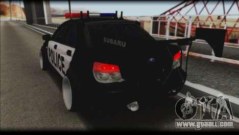 Subaru Impreza WRX STi Police Drift for GTA San Andreas left view
