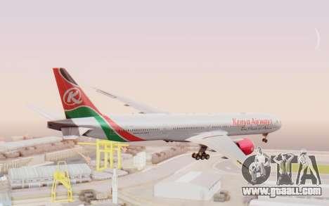 Boeing 777-300ER Kenya Airways for GTA San Andreas left view