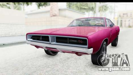Dodge Charger 1969 Racing for GTA San Andreas back left view