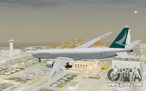 Boeing 777-300ER Cathay Pacific Airways v3 for GTA San Andreas left view