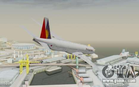 Boeing 777-300ER Philippine Airlines for GTA San Andreas left view