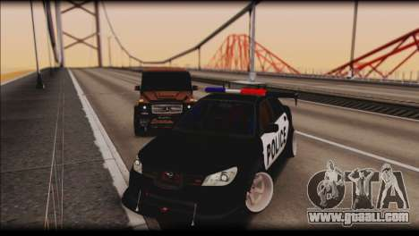 Subaru Impreza WRX STi Police Drift for GTA San Andreas back view