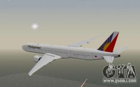 Boeing 777-300ER Philippine Airlines for GTA San Andreas right view