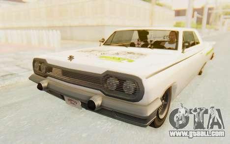 GTA 5 Declasse Voodoo Alternative v1 PJ for GTA San Andreas side view