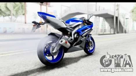 Yamaha YZF-R6 2006 with 2015 Livery for GTA San Andreas left view