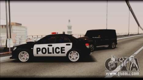 Subaru Impreza WRX STi Police Drift for GTA San Andreas bottom view