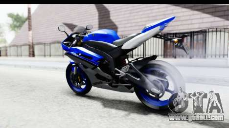 Yamaha YZF-R6 2006 with 2015 Livery for GTA San Andreas back left view