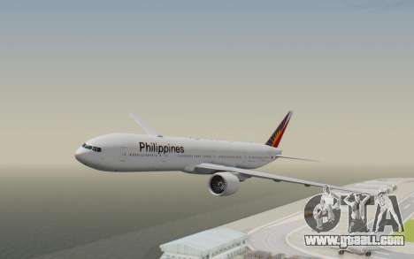 Boeing 777-300ER Philippine Airlines for GTA San Andreas back left view