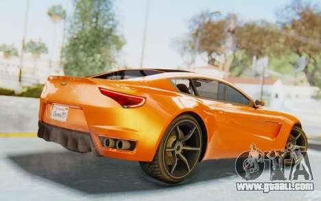 GTA 5 Dewbauchee Seven 70 IVF for GTA San Andreas left view