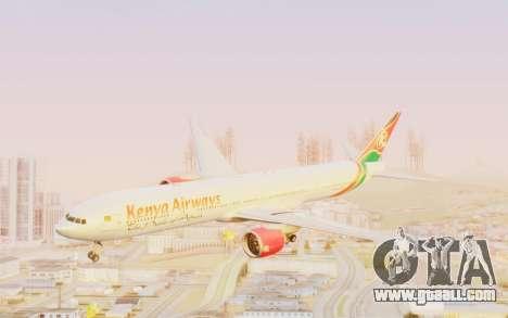 Boeing 777-300ER Kenya Airways for GTA San Andreas back left view