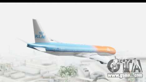 Boeing 777-300ER KLM Orange Pride for GTA San Andreas left view