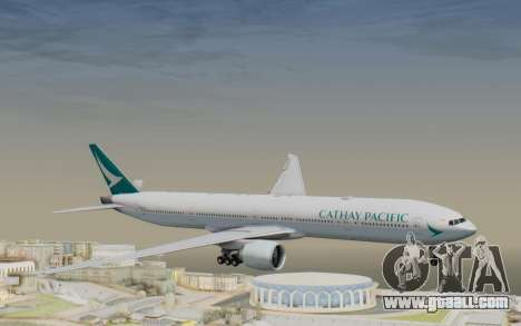 Boeing 777-300ER Cathay Pacific Airways v3 for GTA San Andreas back left view