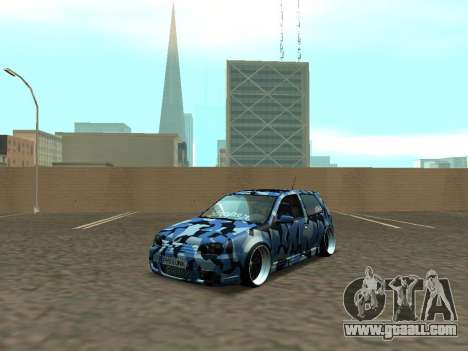 Volkswagen Golf MK4 R32 Stance for GTA San Andreas left view