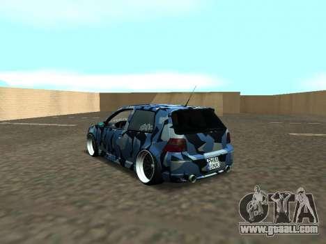Volkswagen Golf MK4 R32 Stance for GTA San Andreas back left view