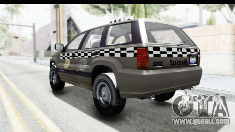 GTA 5 Canis Seminole Taxi Saints Row 4 Retro for GTA San Andreas left view