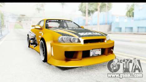 NFSU Eddie Nissan Skyline for GTA San Andreas right view