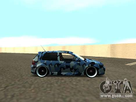 Volkswagen Golf MK4 R32 Stance for GTA San Andreas right view