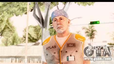 COD AW - John Malkovich Janitor for GTA San Andreas