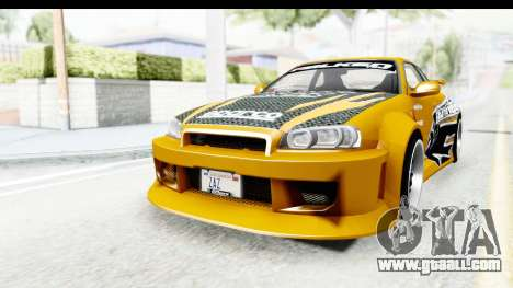 NFSU Eddie Nissan Skyline for GTA San Andreas
