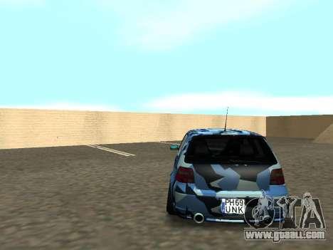 Volkswagen Golf MK4 R32 Stance for GTA San Andreas inner view