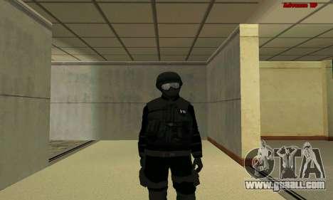 Skin FIB SWAT from GTA 5 for GTA San Andreas