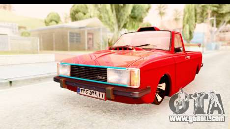 Peykan Pickup Full Sport Iranian for GTA San Andreas back left view