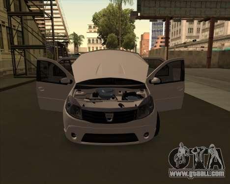 Dacia Logan Londero Misterios Urechiata for GTA San Andreas back left view