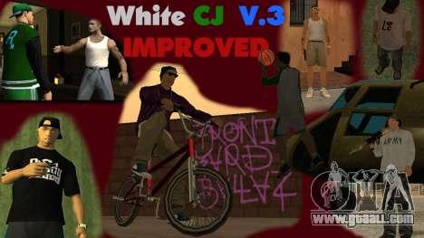 White CJ v3 Improved for GTA San Andreas